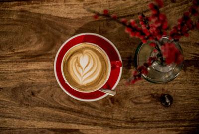 Kaffeeröstung für Cappucino
