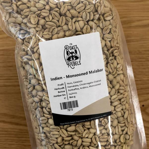 Rohkaffee Monsooned Malabar aus Indien