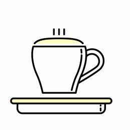 Kaffeebohne für Cappuccino