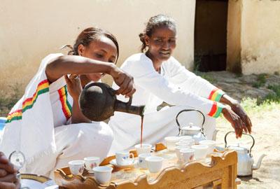 Äthiopien Rohkaffeebohnen