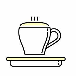 Kaffee rösten für Cappuccino