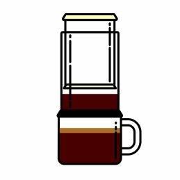 Kaffeebohne für Aeropress
