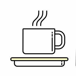 Kaffeebohne für Café Crème