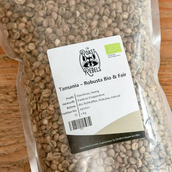 Bio Robusta Rohkaffee Tansania